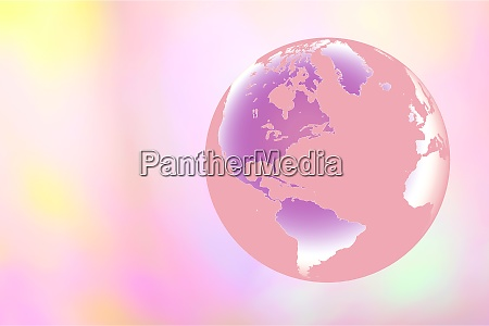 globe on pastel background