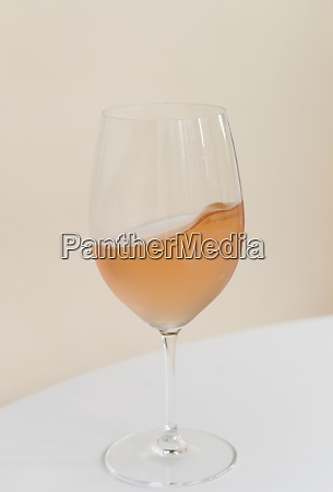 rose wine in wineglass