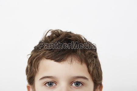 partial portrait of boy 8 9