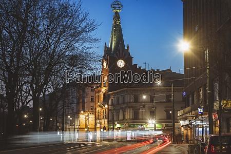 poland lesser poland krakow illuminated city