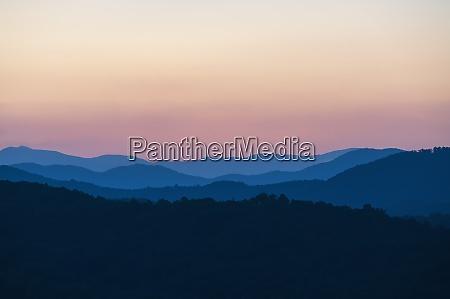 usa georgia blue ridge mountains at