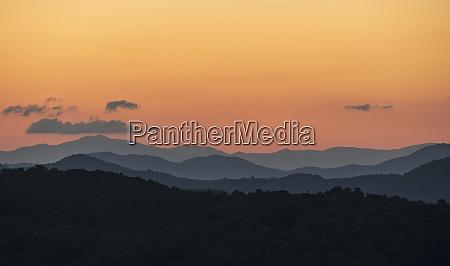 usa georgia orange sky above blue