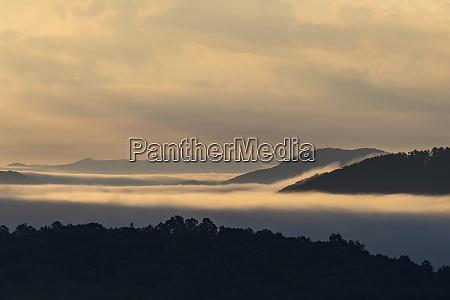 usa georgia fog and clouds above