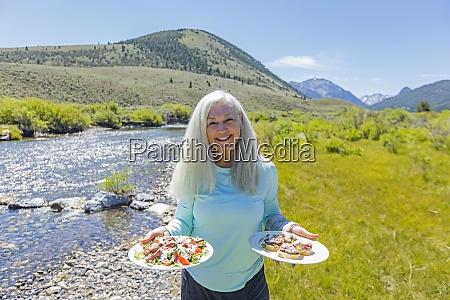 usa idaho sun valley woman with