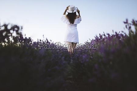 france woman in white dress in