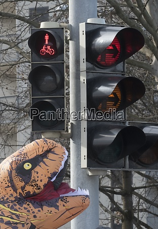 pedestrian traffic light on the street
