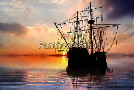 pirate ship sailboat at the open