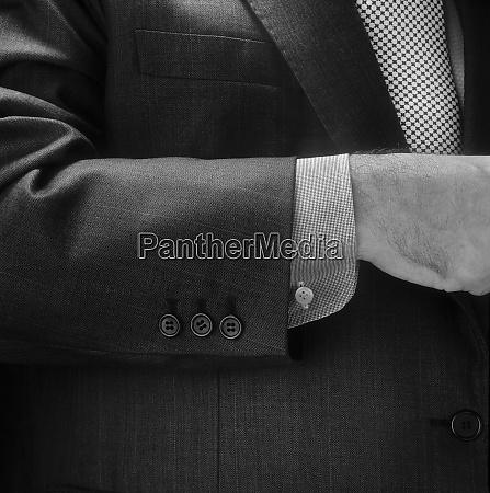 man suit detail