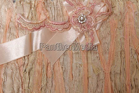 bow on a textile background