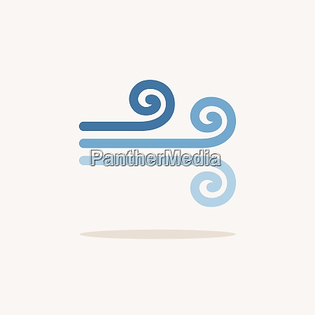 wind color icon with shadow weather