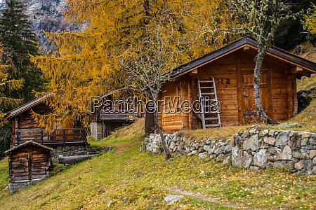 landscape of the french alps in
