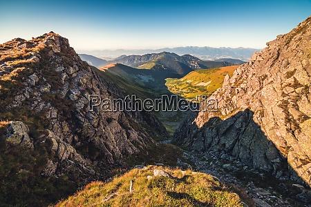 mountain landscape at sunset