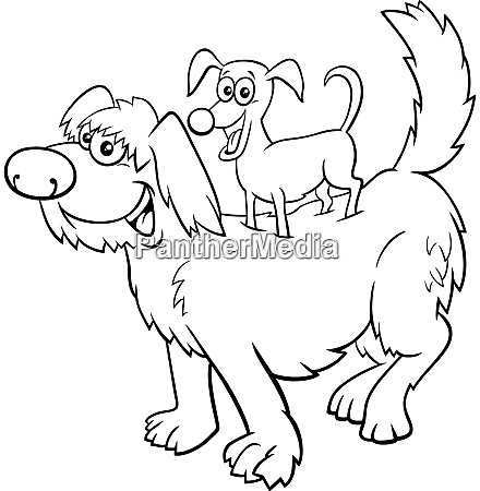 cartoon playful dogs funny animal characters