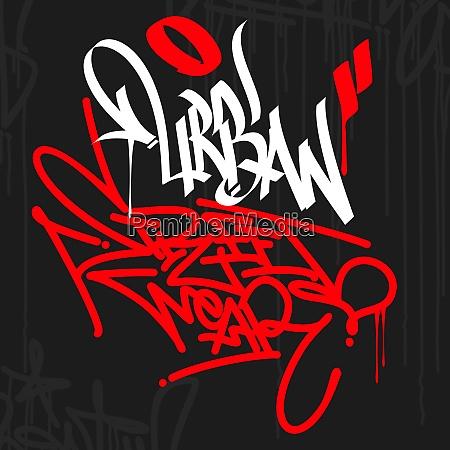 urban street wear graffiti style typography