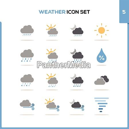weather icon set color icon set
