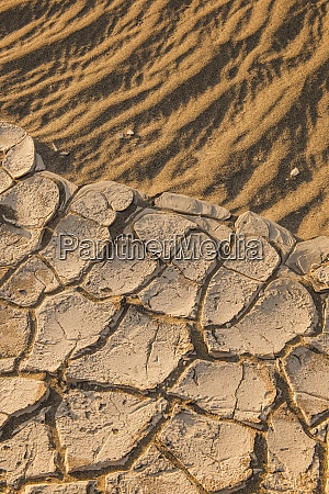 cracked soil on desert