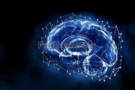 abstract illustration of human brain