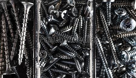 full frame shot of screws