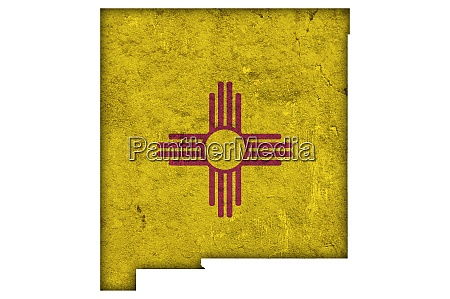 map and flag of new mexico