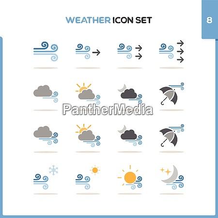 weather, icon, set., color, icon, set - 29033816