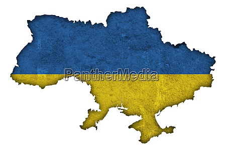 map and flag of ukraine on