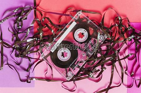 damaged audio tape