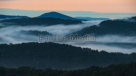 usa georgia blue ridge mountains covered