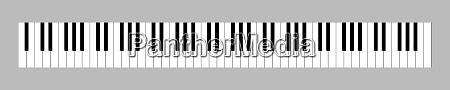 88 key full size keyboard 3d