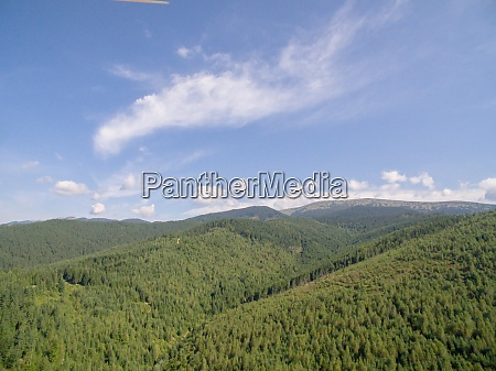 green mountaines aerial drone photo of