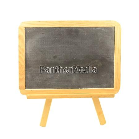 isolated chalkboard easle
