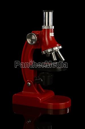 red scientific microscope