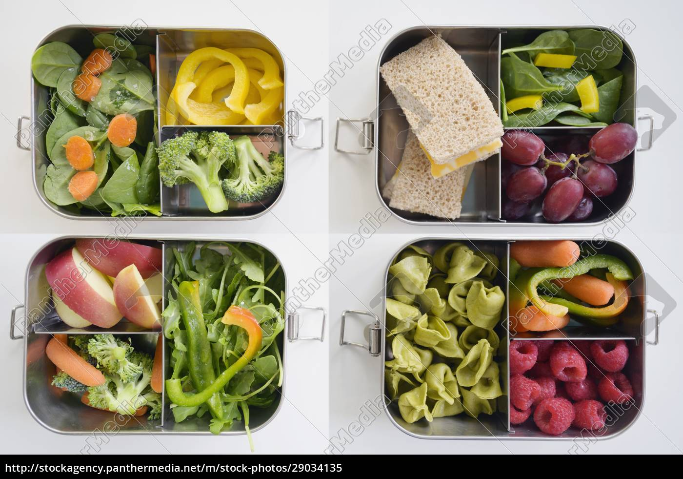 lunch, boxes, with, fresh, vegetables, and - 29034135