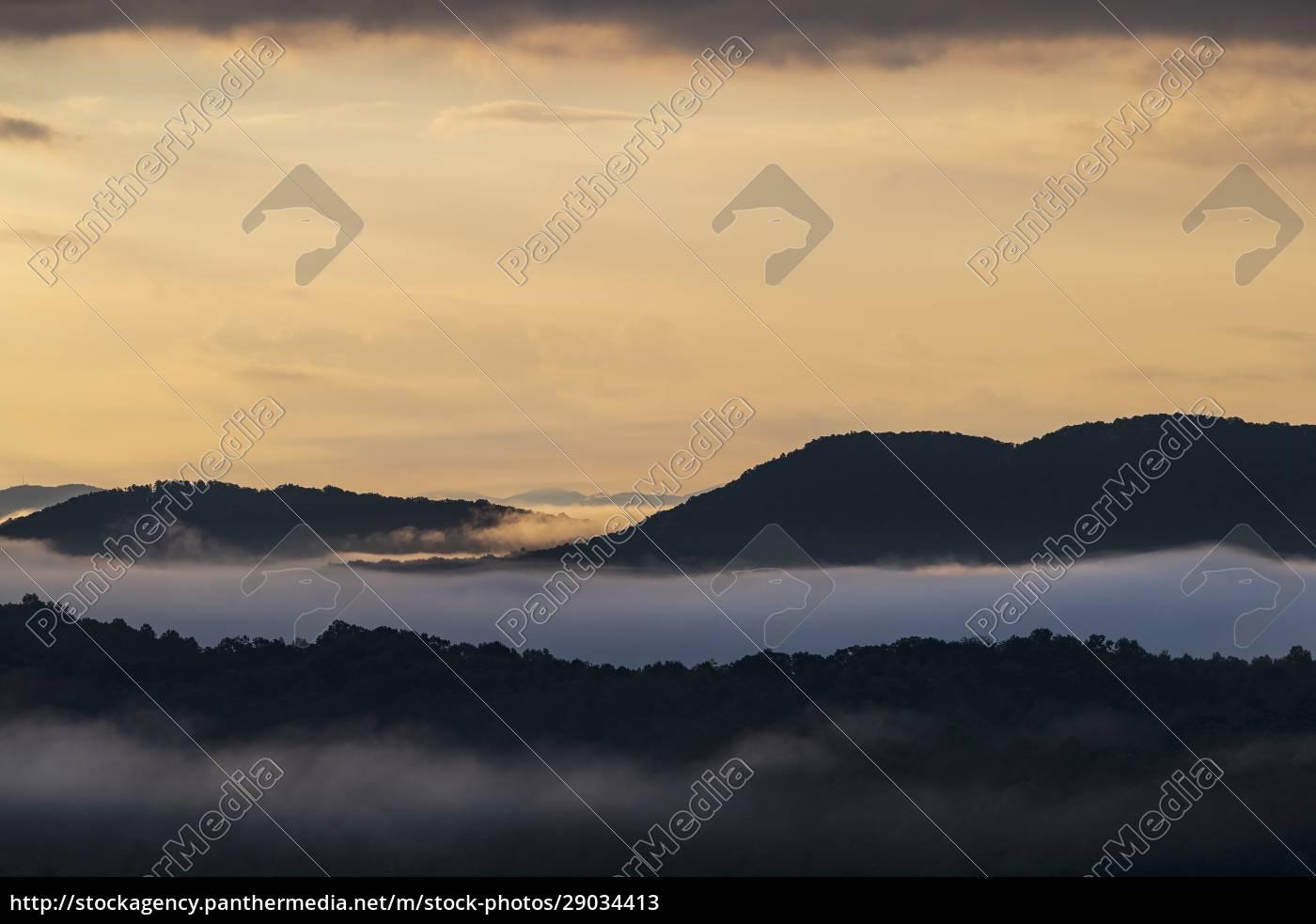 usa, , georgia, , blue, ridge, mountains, covered - 29034413