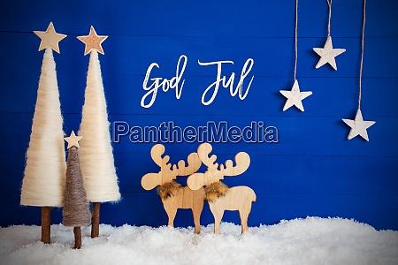 christmas tree moose snow star god