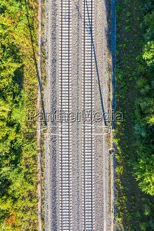 railway track tracks line railroad train