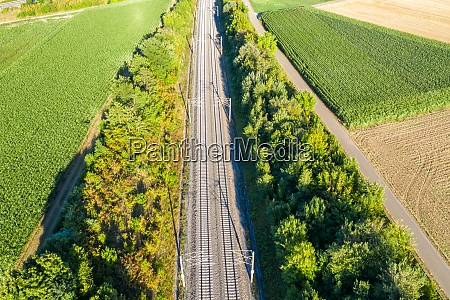 railway track tracks line railroad train