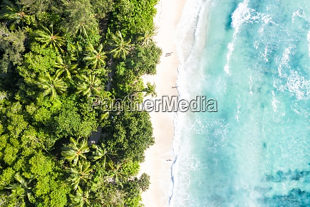 seychelles takamaka beach sea waves vacation