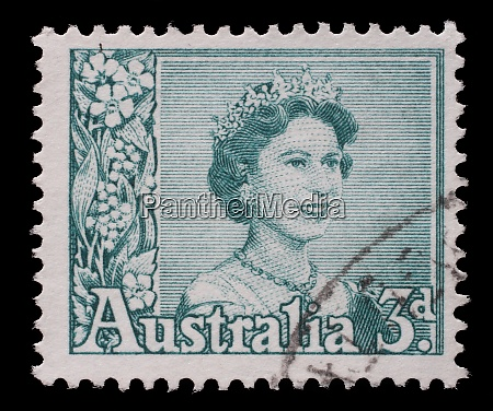 stamp printed in australia shows a