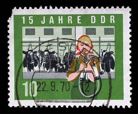 stamp issued in germany democratic