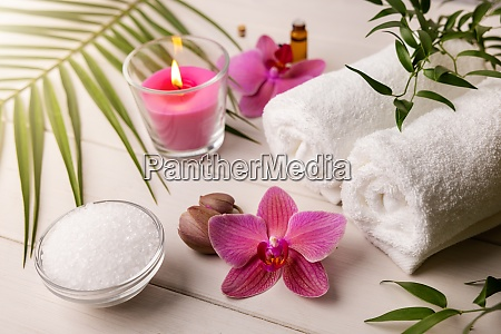 spa salt treatment spa items on