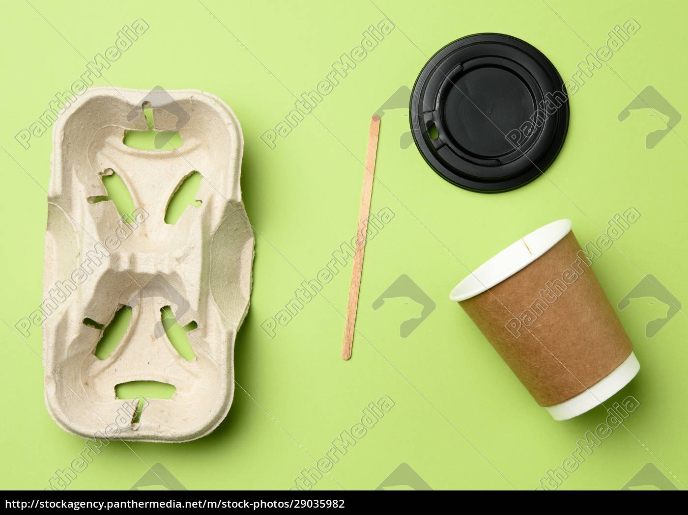 disposable, paper, cups, from, brown, craft - 29035982
