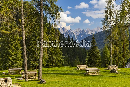 mountainous landscape in dolomites south tyrol