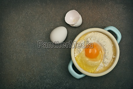 flat lay of baking ingredients on