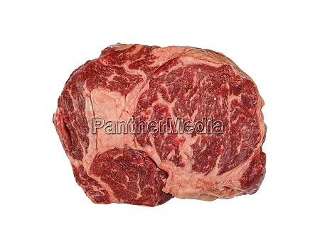 close up raw beef ribeye steak