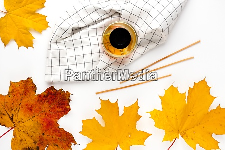 autumn vibe composition blank greeting card