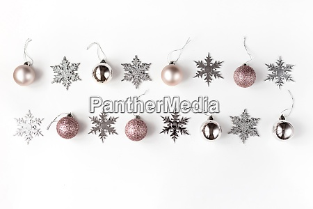 white and silver christmas ornaments and