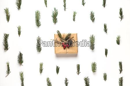 christmas composition frame made of christmas