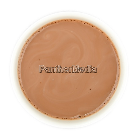 cocoa hot chocolate cup top isolated