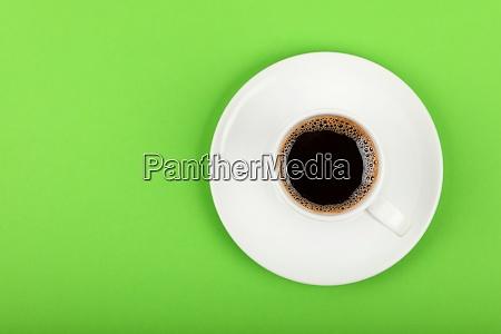 full white espresso coffee cup over