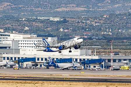 aegean airlines airbus a320neo airplane athens
